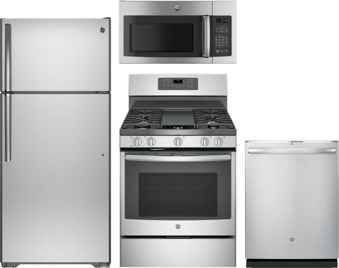 Ge Gereradwmw12940 4 Piece Kitchen Appliances Package With
