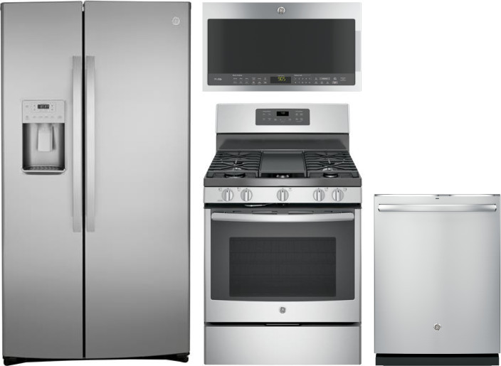 Ge Gereradwmw13621 4 Piece Kitchen Appliances Package With