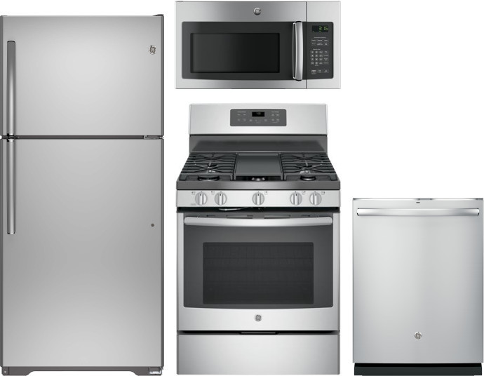 Ge Gereradwmw13681 4 Piece Kitchen Appliances Package With