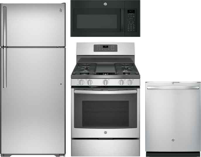 Ge Gereradwmw14757 4 Piece Kitchen Appliances Package With
