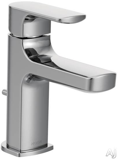 Moen 6900 Single Handle Cast Spout Bathroom Faucet With 4 Inch Faucet Reach Single Hole Mounting Aerated Water Flow And Ada Compliant No Hot Cold Color Indicators