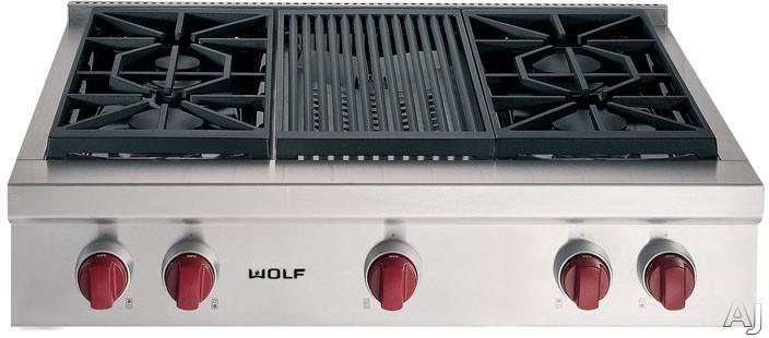 Wolf 36 Inch Pro Style Gas Rangetop