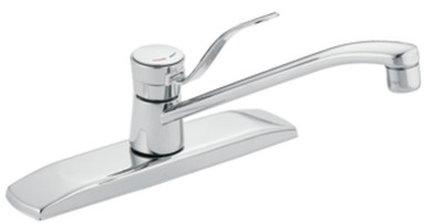 Moen 8710 Single Lever Cast Spout Kitchen Faucet With 9 Inch Reach 7 1 2 Inch Height Washerless Cartridge Cast Bar Valve Body And Ada Compliant