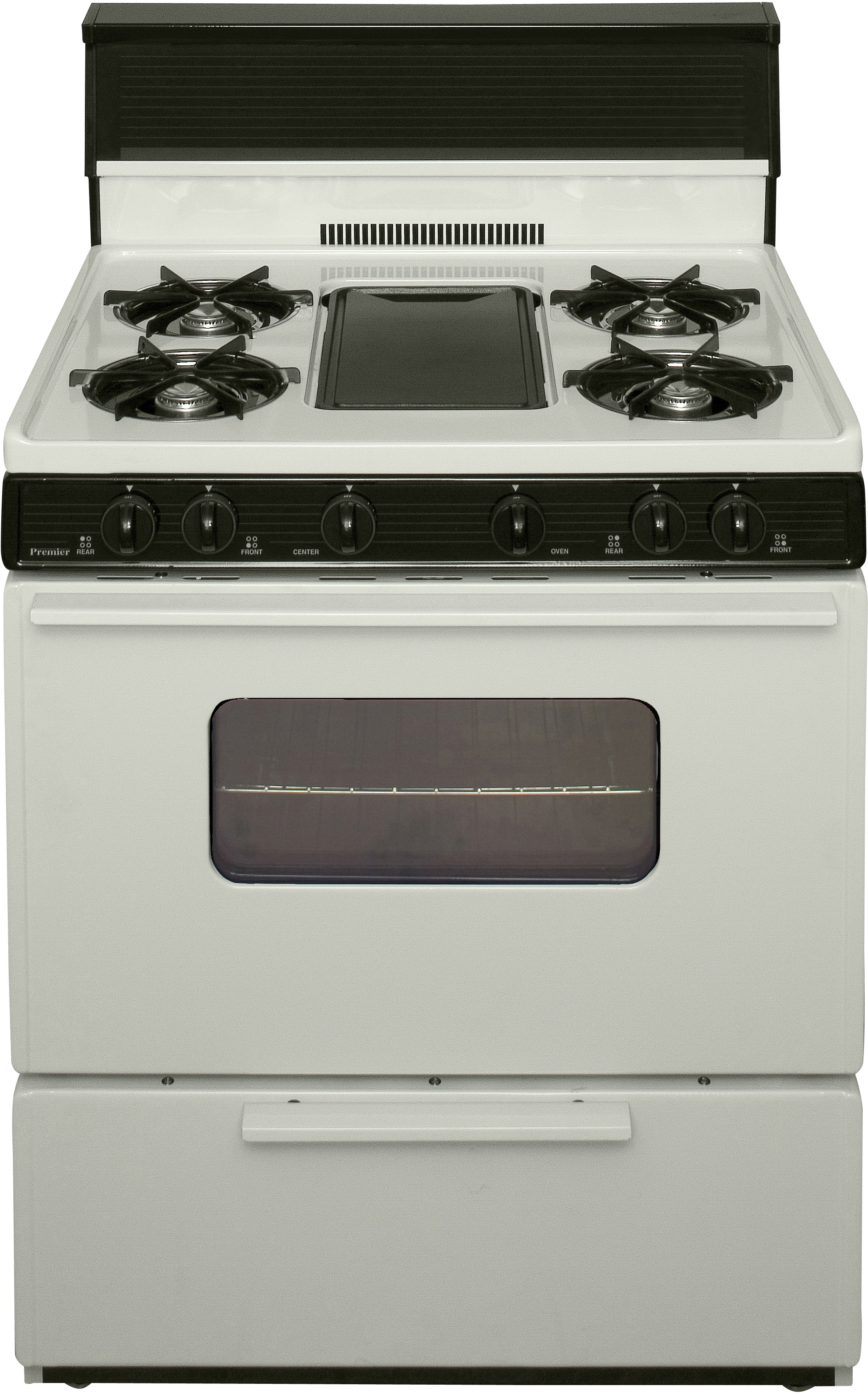 Premier Bfk5s9tp 30 Inch Freestanding Gas Range With 5 Open Burners