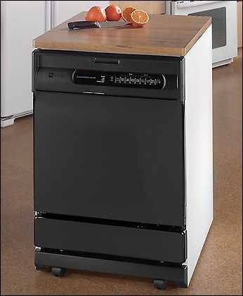 Maytag Mdc5100awb Jetclean 24 Inch Convertible Portable Dishwasher W 4 Wash Cycles Premium Upper Rack Black