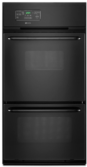 Maytag Cwg3600aab 24 Inch Double Gas Wall Oven With 2 7 Cu Ft Upper Oven 2 2 Cu Ft Lower Broiler Compartment Delay Start Extra Large Broiler And Electronic Controls Black