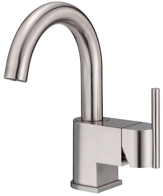 Danze® D221542BN Single Lever Lavatory Faucet With 5 1/2 Inch Reach, 8 1/2  Inch Height, Swivel Spout, Ceramic Disc Valve, Metal Touch Down Drain  Assembly ...