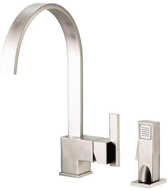Danze D401544ss Single Lever Cast Spout Kitchen Faucet With 9 Inch