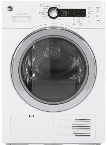 Ge Dcch480ekww 24 Inch Ventless Condenser Electric Dryer With 4 0 Cu