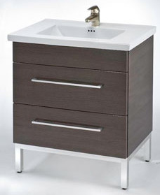 Empire Industries Dm3002wms 29 Inch Contemporary Vanity With 2 Drawers Blum Hinges And Optional 31 Inch Milano Ceramic Countertop White Matte Satin Frame