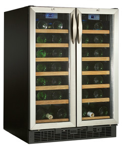 Danby DWC2121BLS 24 Inch Built-in 2 Door Wine Cooler with 54 ... on