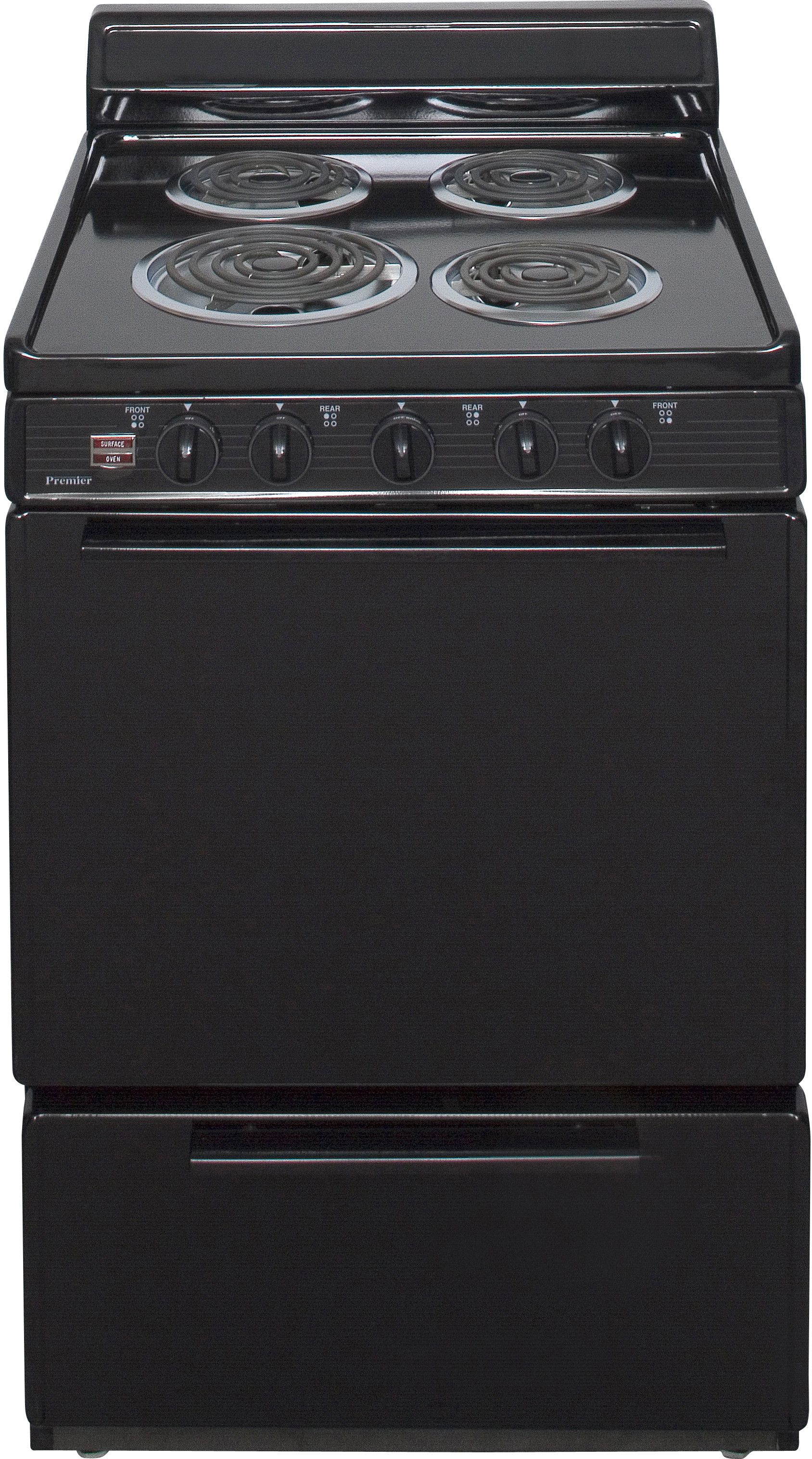 Premier ECK100BP 24 Inch Freestanding Electric Range with 4 Coil Elements,  3.0 cu. ft. Capacity, Manual Clean, 2 Adjustable Oven Racks, ADA Compliant  and 4 ...