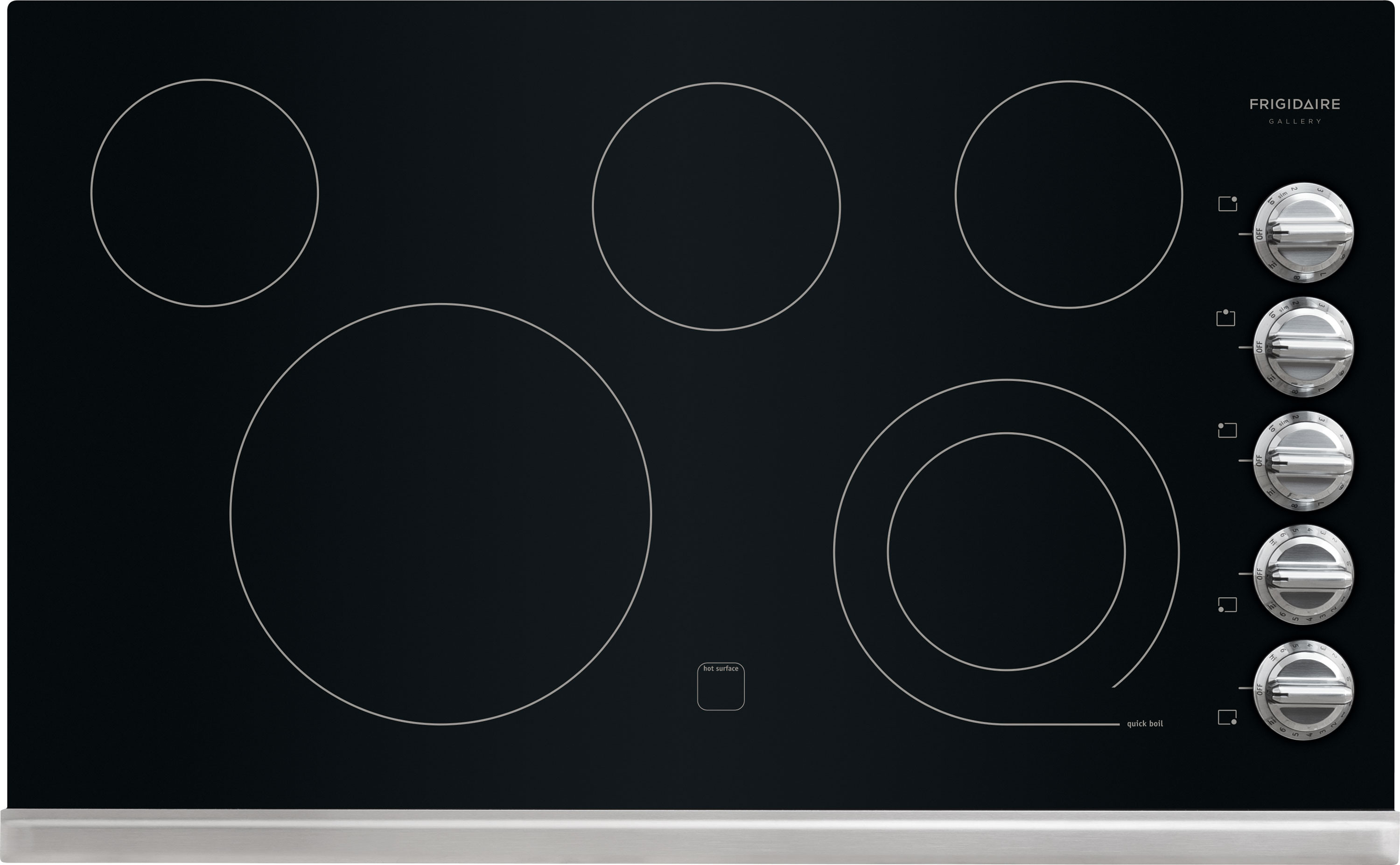 Frigidaire FGEC3645PS 36 Inch Smoothtop Electric Cooktop with 5 Heating  Zones, SpaceWise Expandable 6 Inch/9 Inch Heating Zone, Ceramic Glass  Construction, ...