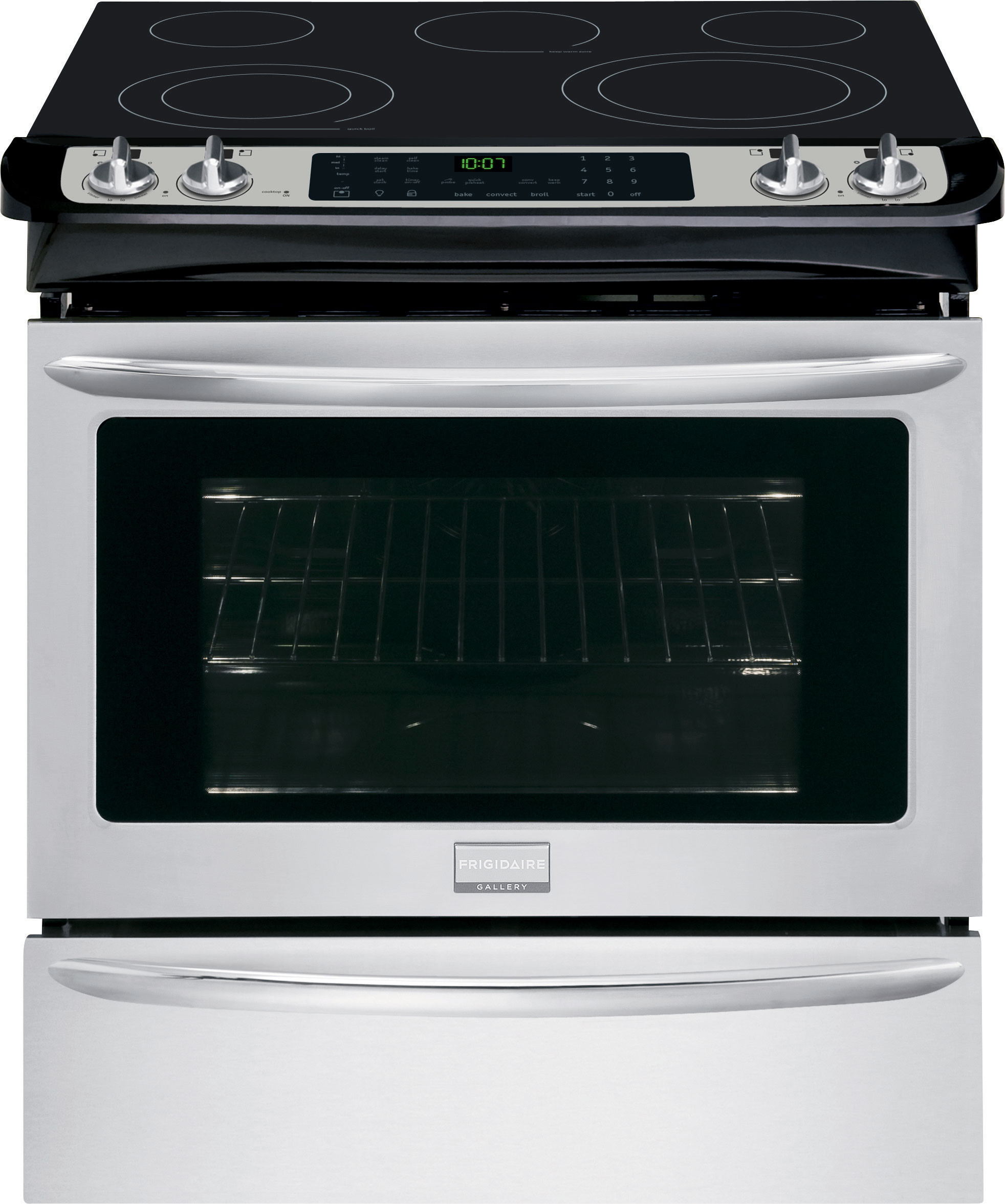 Frigidaire Fges3065pf 30 Inch Slide In Electric Range With True Wiring Diagram 4 Wire Stove Oven Convectiontemperature Probe Steam Self Clean 5 Heating Elements Spacewise