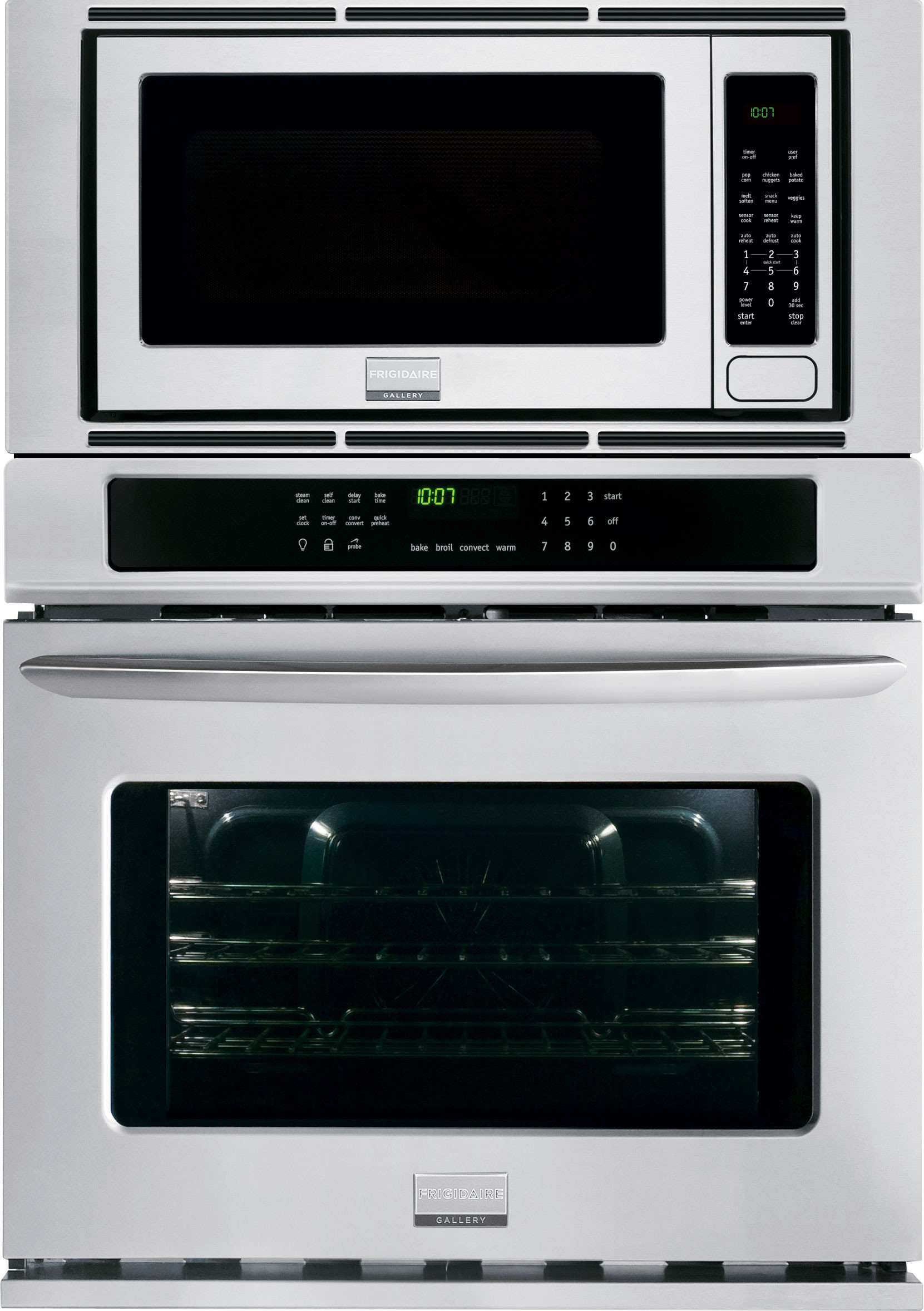 Frigidaire FGMC3065PF 30 Inch Combination Wall Oven with 4.6 cu. ft. True  Convection Oven, 2.0 cu. ft. Microwave, Steam Clean, Quick Preheat, ...