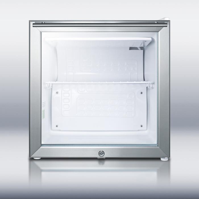 Summit Fs20lgl7 1 6 Cu  Ft  Compact Upright Freezer With 1