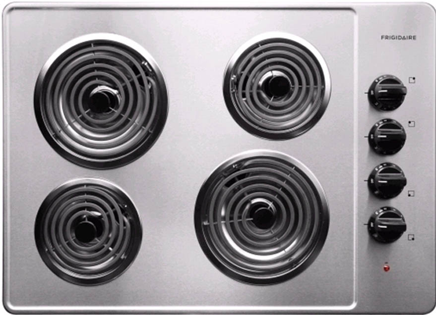 Frigidaire Ffec3005ls 30 Inch Electric Cooktop With 4 Coil Heating Elements And Ready Select Controls Stainless Steel
