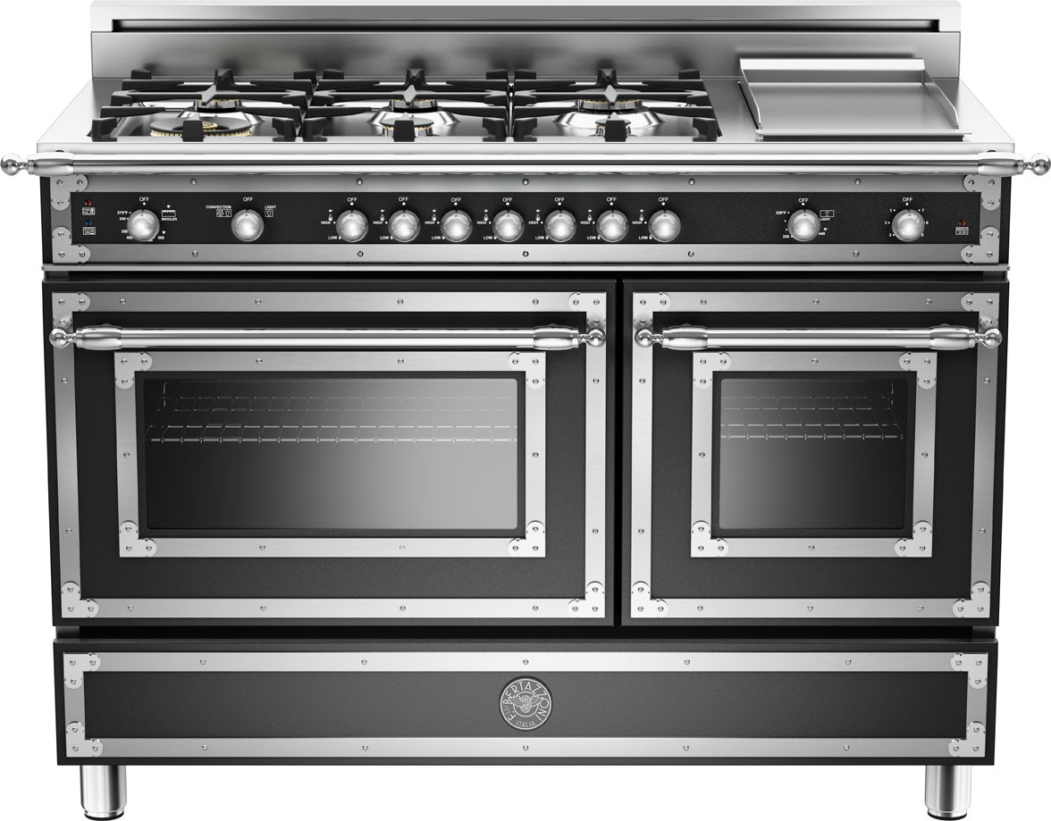 Gas Ranges >> Bertazzoni Her486ggasnelp 48 Inch Traditional Style Gas Range With 6