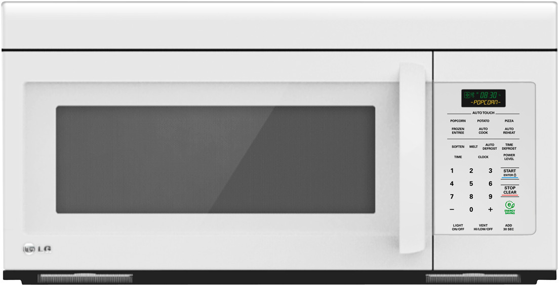 Lg Lmv1683sw 1 6 Cu Ft Over The Range Microwave Oven With Auto Defrost Energy Saver Intuitouch Controls Rapid Child Lock 10 Levels