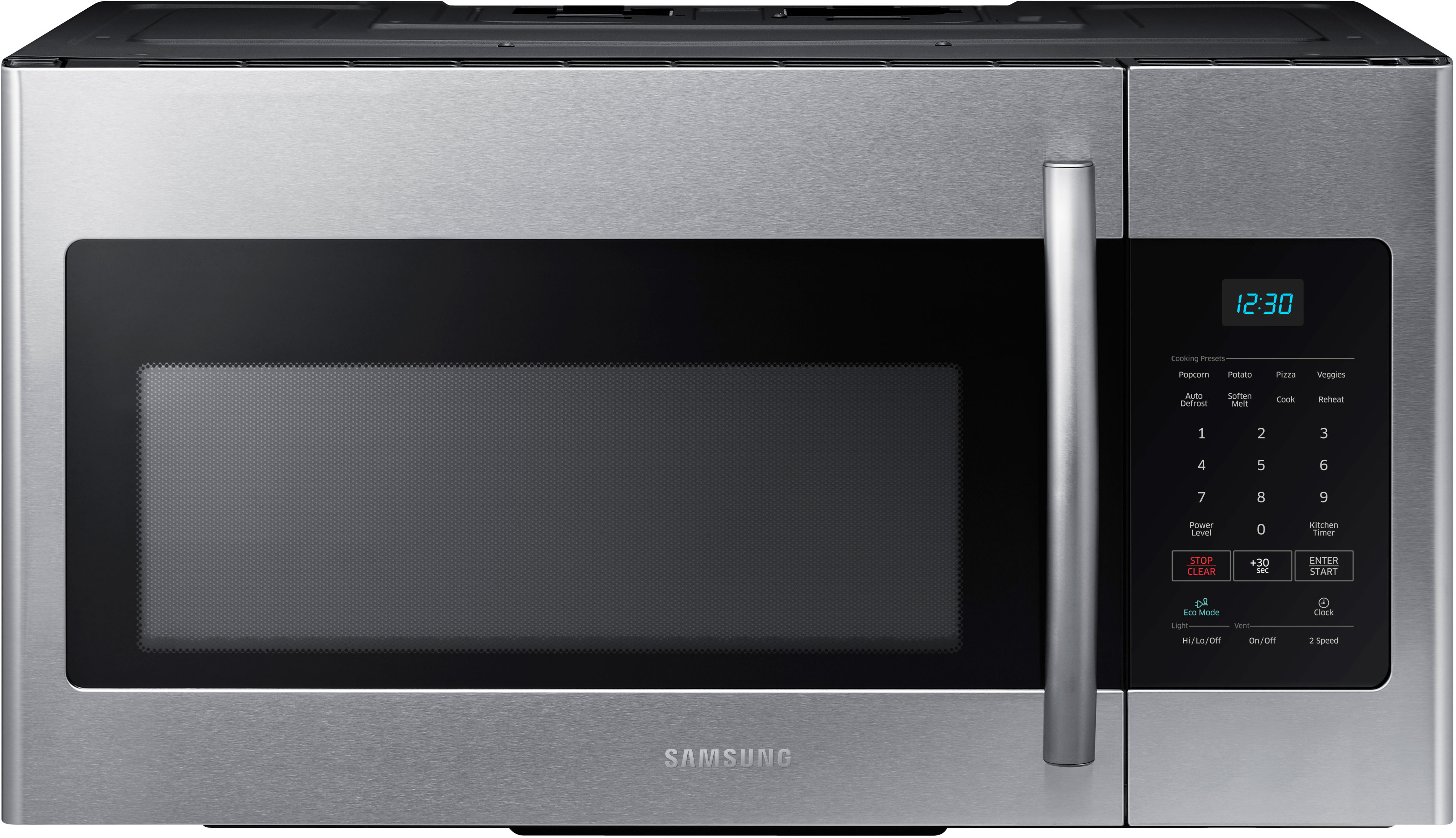 Over The Range Microwave Oven With Eco Mode Auto Defrost 2 Stage Cooking 1 000 Watts 10 Levels And 300 Cfm Venting System Stainless Steel