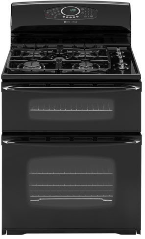 Maytag MGR6875ADB 30 Inch Freestanding Gas Double Oven Range with 5 Sealed  Burners, 5.4 cu. ft. Self-Clean Ovens, EvenAir Convection Including 3rd  Element, Automatic Oven Light and Electronic Controls: Black