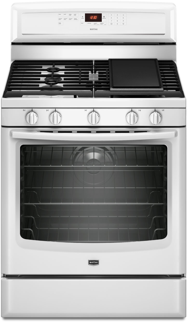 Maytag Mgr8880aw 30 Inch Freestanding Gas Range With 5