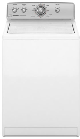 Maytag Mvwc500vw 27 Inch Top Load Washer With 3 5 Cu Ft Supersize Capacity 16 Automatic Wash Cycles Stainless Steel Wash Basket Loadflex Agitator Dependableclean Wash System And Quietseries 100 Sound Package