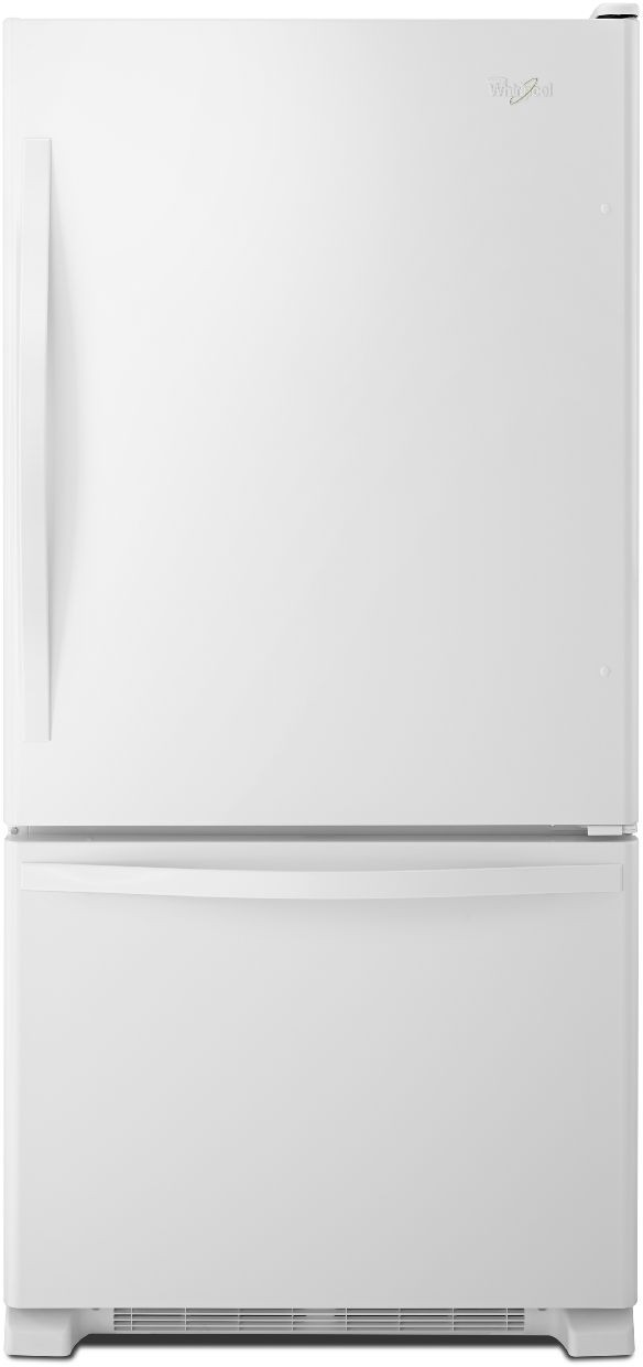 Whirlpool Wrb329dmbw 30 Inch Bottom Freezer Refrigerator With 18 5 Cu Ft Capacity Spillguard Gl Shelves Humidity Controlled Crispers