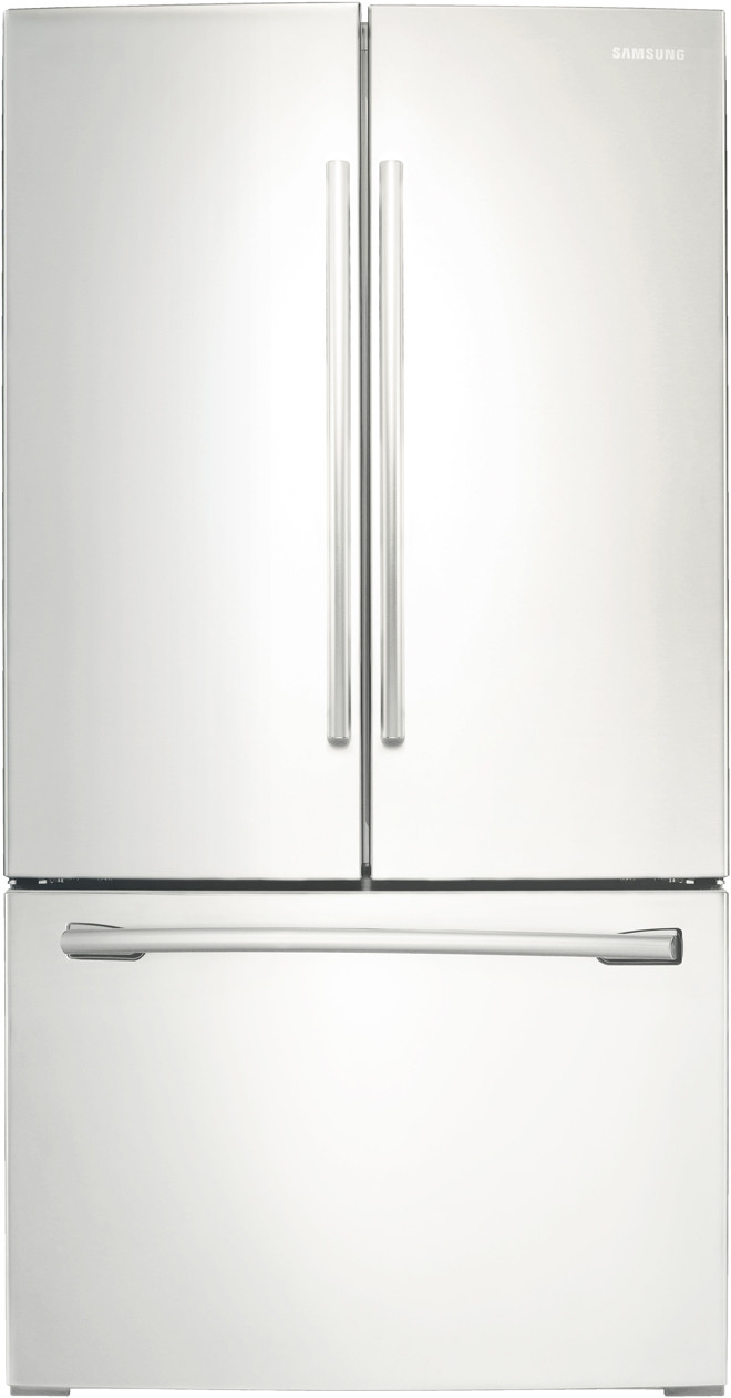 RF260BEAESR 36 Energy Star Freestanding French Door Refrigerator with 25.5 cu Stainless Steel ft Capacity,
