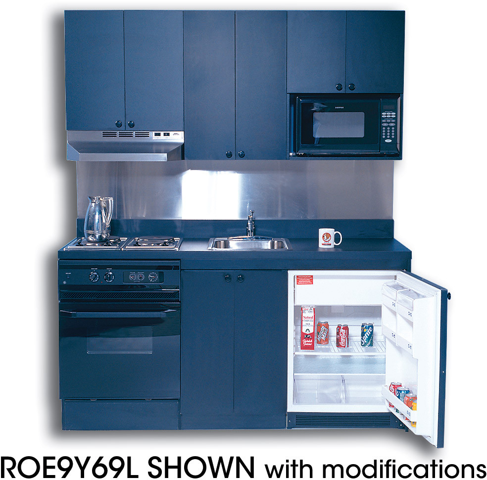 Compact Kitchen: Acme ROG10Y69 Compact Kitchen With Stainless Steel