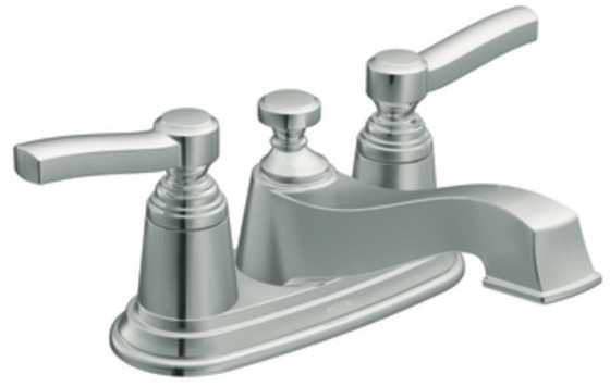 Moen S6201 Double Lever Lavatory Faucet With 5 1 4 Inch