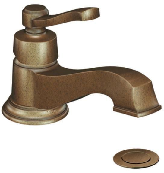 Moen s6202az single lever lavatory faucet with 5 1 4 inch - Moen antique bronze bathroom faucets ...