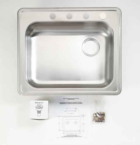 Strange Ge Gpf95 Stainless Steel Sink For Under The Sink Dishwasher Download Free Architecture Designs Osuribritishbridgeorg