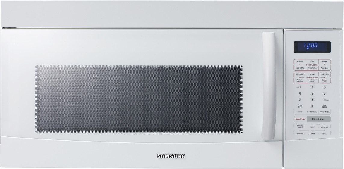 Samsung Smh9187w 1 8 Cu Ft Over The Range Microwave With
