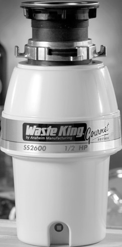 Waste King SS2600 1/2 HP Continuous Feed Food Disposer on