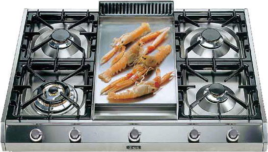 Ilve UHP95FCI 36 Gas Cooktop in Stainless Steel