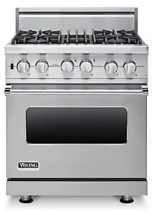 Viking VDSC5304BSS 30 Inch Pro-Style Dual-Fuel Range with 4 ... on