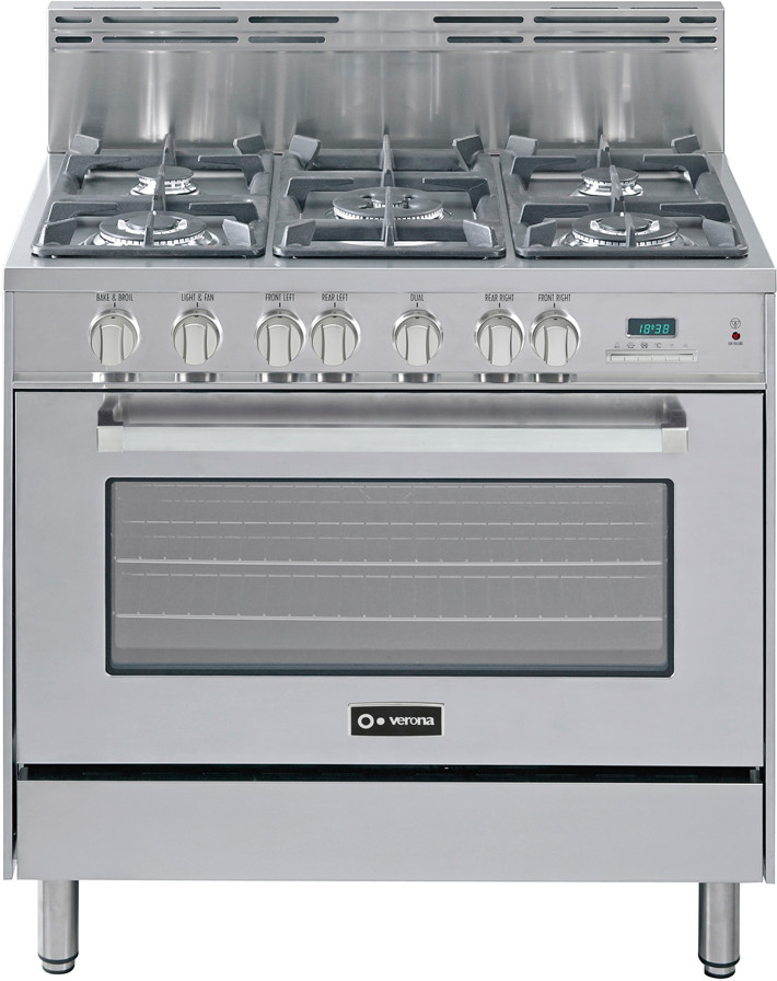 61c664282 Verona VEFSGE365SS 36 Inch Pro-Style Dual-Fuel Range with 5 Sealed Burners