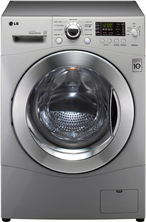 Lg Wm3455hs 24 Inch Front Load Compact Washer Dryer Combo With 2 7 Cu Ft Capacity 9 Wash Cycles 6 Dry Cycles 1300 Rpm Spin Speed Lodecibel Quiet Operation Senseclean And Ventless Silver