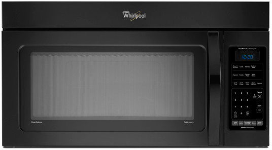 Whirlpool Wmh75520ab 2 0 Cu Ft Over The Range Microwave Oven With 300 Cfm Venting System 1100 Cooking Watts 10 Power Levels Sensor Cook Steam Cook And Kids Menu Option Black