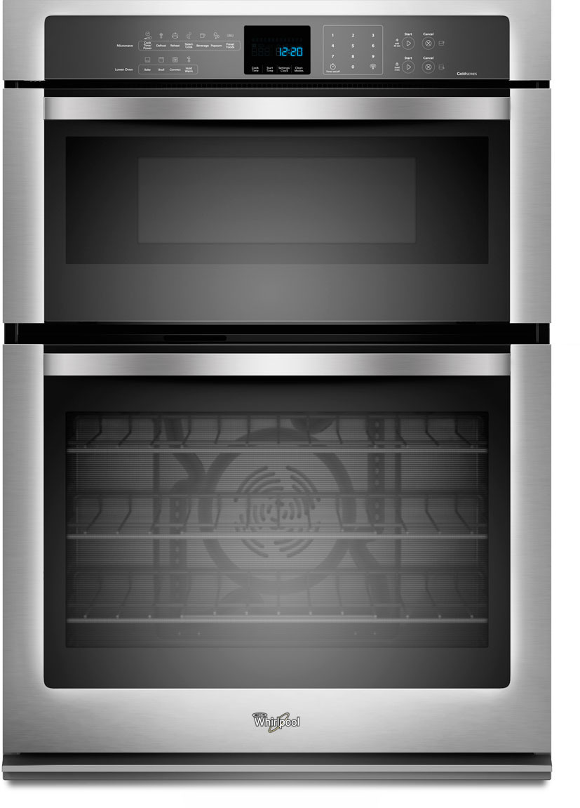 Whirlpool WOC95EC0AS 30 Inch Microwave Combination Wall Oven with True  Convection, Temperature Sensor, Rapid Preheat, 5.0 cu. ft.