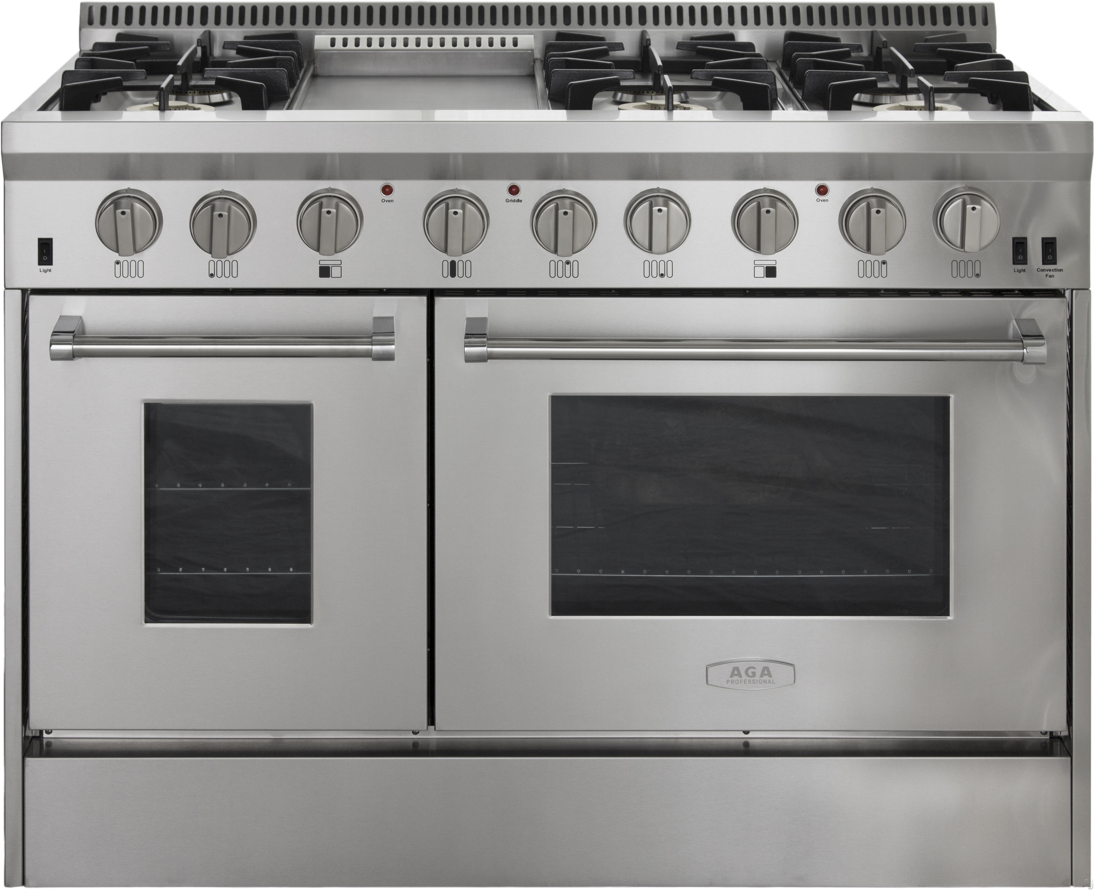 AGA APRO48AGSS 48 Inch Freestanding Gas Range with Convection ...