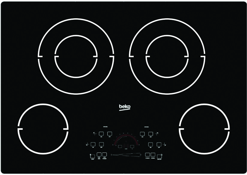 """Image of Beko 30"""" Electric Cooktop ECTM30102"""