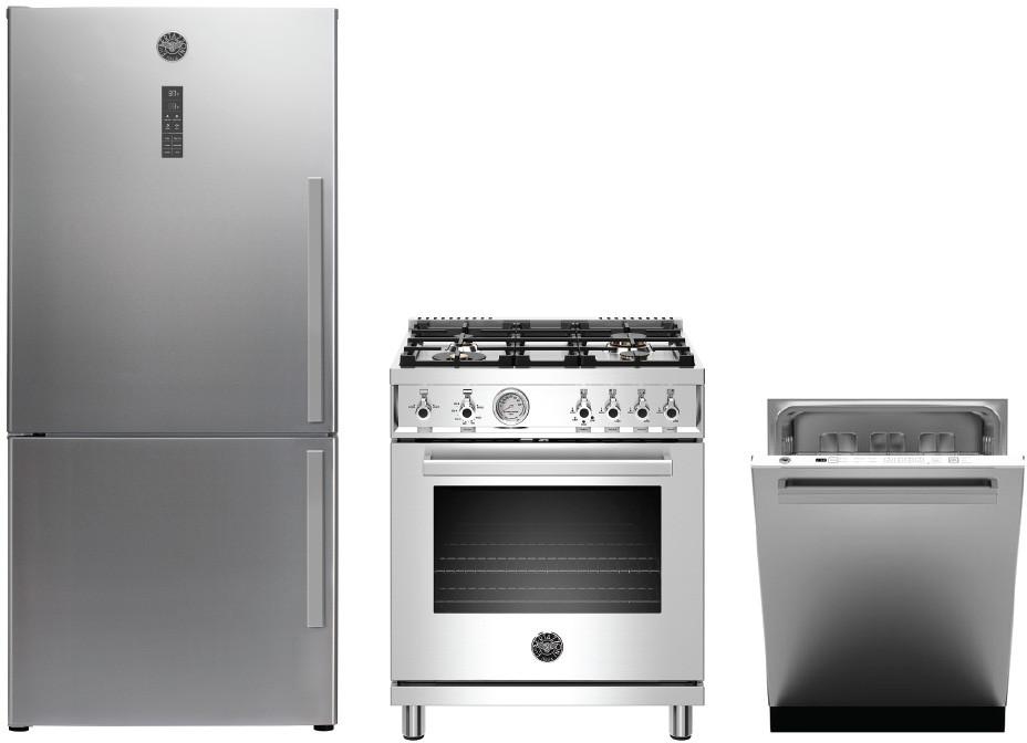 Bertazzoni BERPRO30V4 3 Piece Kitchen Appliances Package