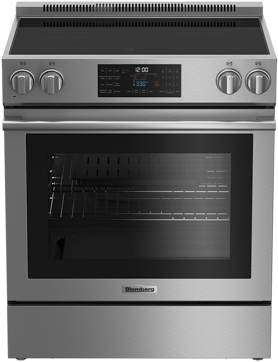 Blomberg Beru30420ss 30 Inch Freestanding Electric Range With Convection Oven 10 Cooking Modes Self Clean Function 5 7 Cu Ft