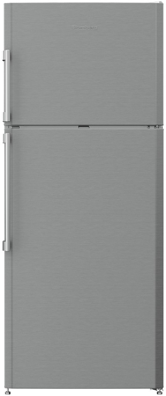 Image of Blomberg 28 Inch 12.6 Cu. Ft. Counter Depth Top Freezer Refrigerator BRFT1522SS