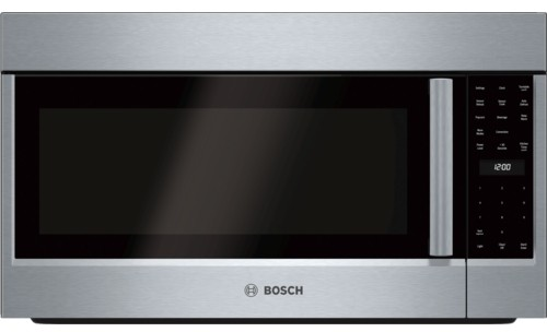 Bosch HMV8053U 1.8 cu. ft. Over-the-Range Microwave Oven with 1,000 Cooking  Watts, 385 CFM, Convection Cooking, Sensor Cooking, Automatic Defrost,  Popcorn Program and LED IlluminationAJ Madison