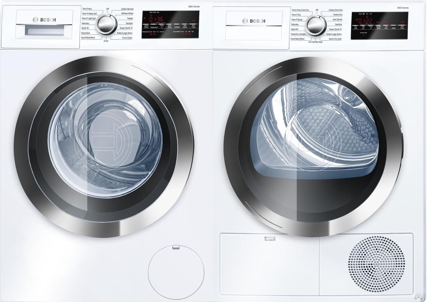 Bosch Bowadreuc402 Side By Side Washer Amp Dryer Set With