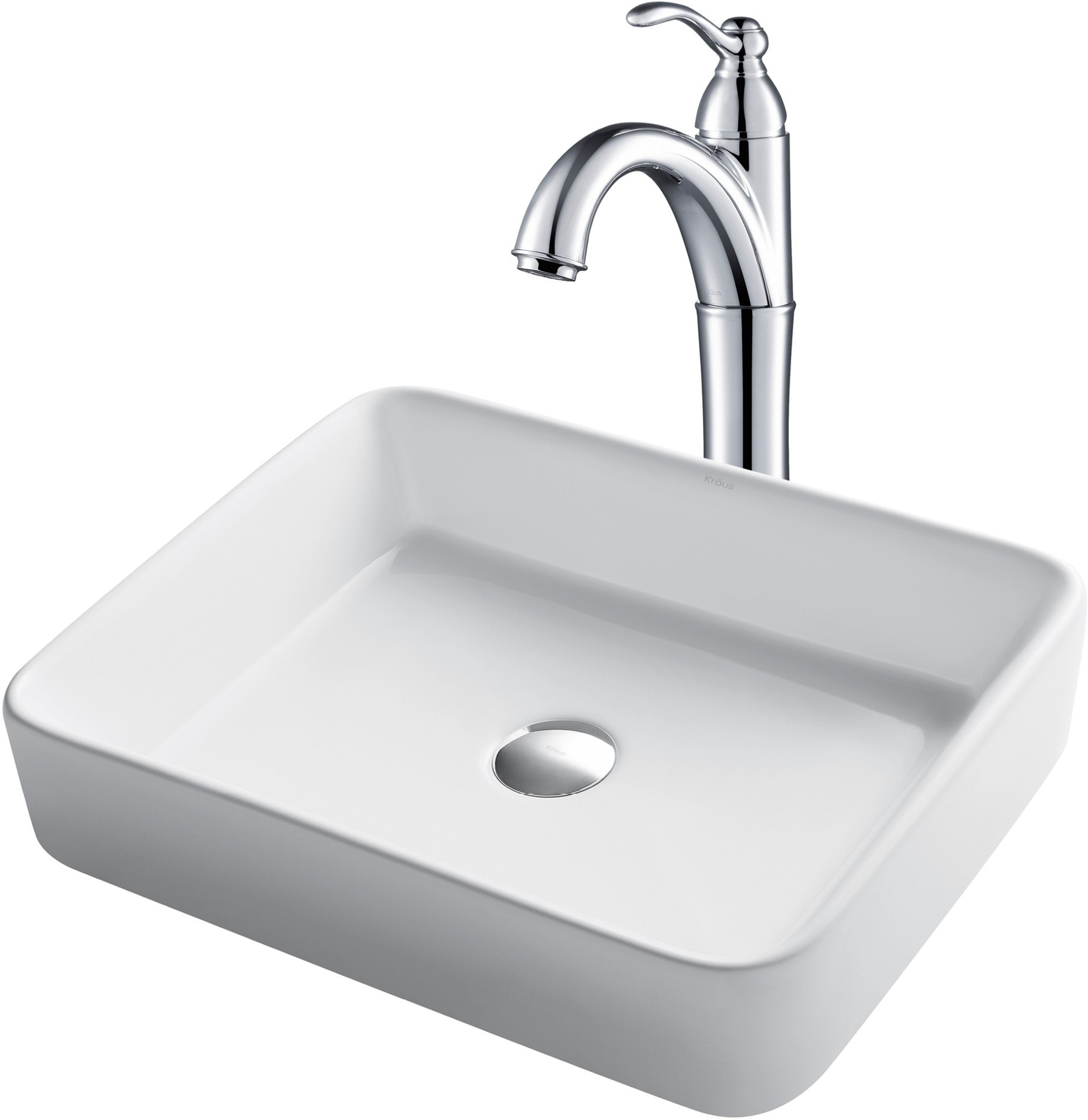 Image of Kraus Ceramic Sink & Faucet Combination CKCV1211005CH