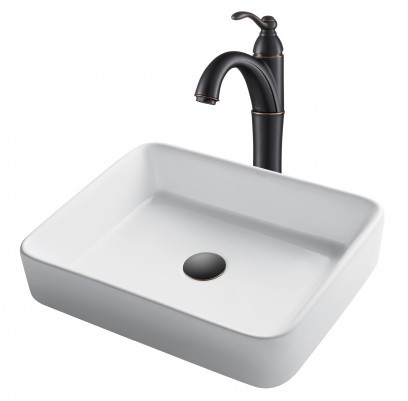 Image of Kraus Ceramic Sink & Faucet Combination CKCV1211005ORB
